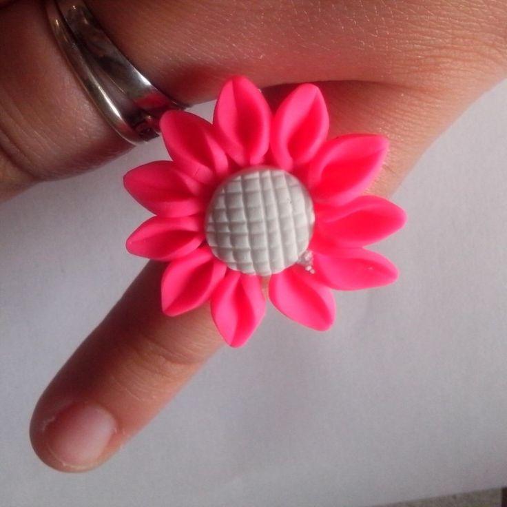 Fun chunky adjustable ring