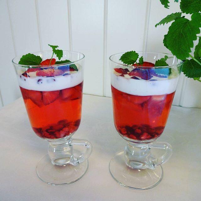 Edel's Mat & Vin : Fun Light gelé med jordbær, granateple og mager va...