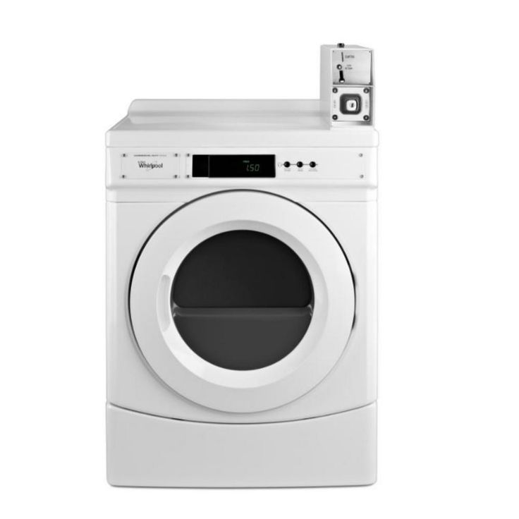Whirlpool 6.7 cu. ft. Commercial Front Load Electric Dryer in White