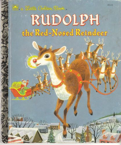 Rudolph The Red Nosed Reindeer Little Golden Book Christmas Richard Scarry | eBay