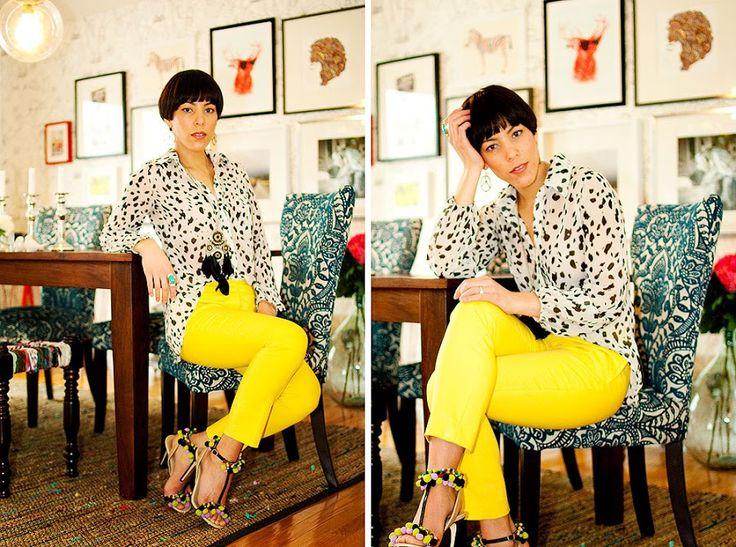 neon yellow pants