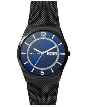 Skagen Men's Melbye Black Stainless Steel Mesh Bracelet Watch 40mm