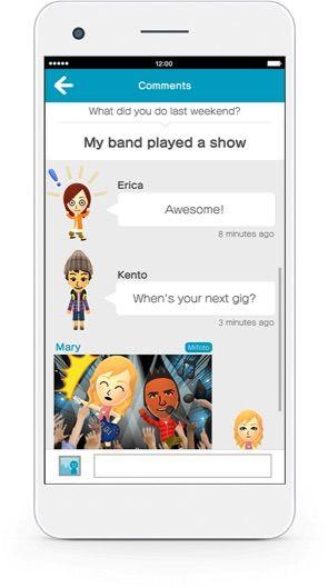 Miitomo phone screenshot