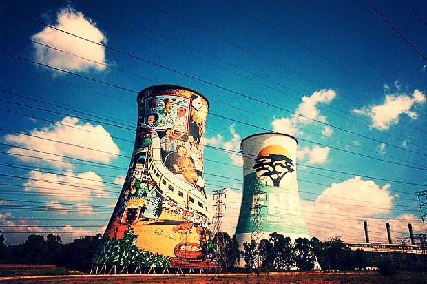 Bungee jump off Soweto towers :D