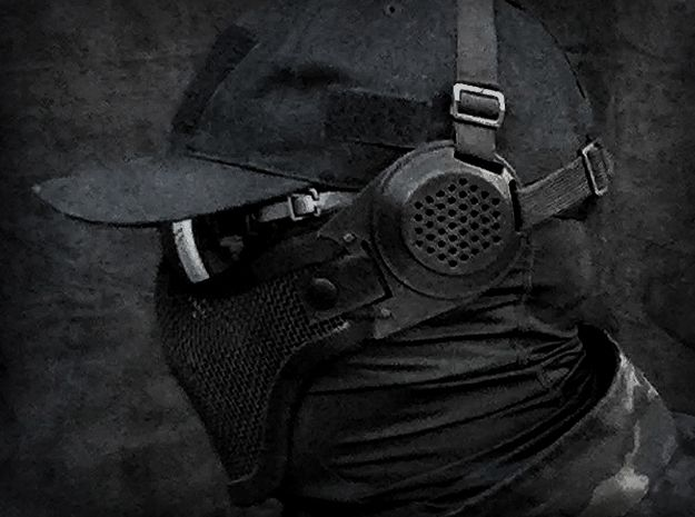 Ear Protection 2pc attaches to Airsoft Mesh Mask by ...