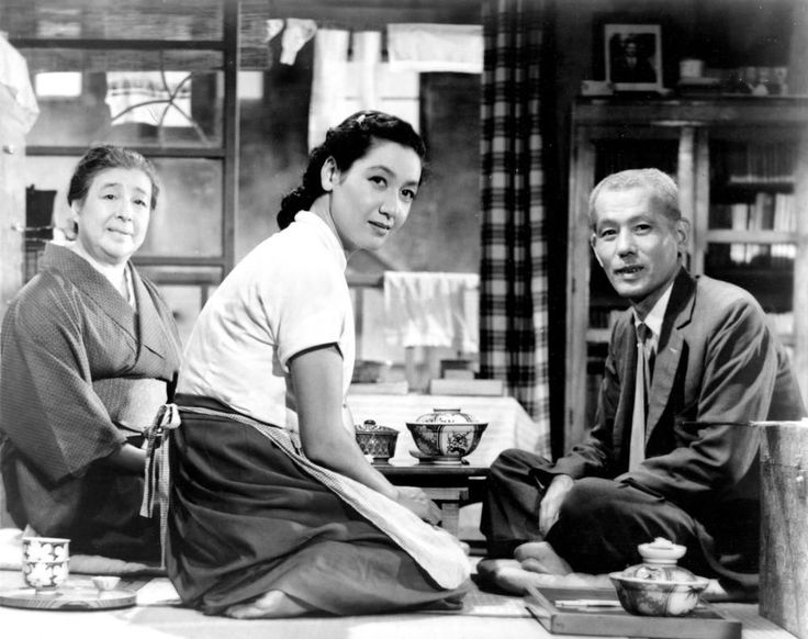Tokyo Story [1953] directed by Yasujiro Ozu, starring Setsuko Hara, Chishu Ryu, Chieko Higashiyama, and Kyōko Kagawa.