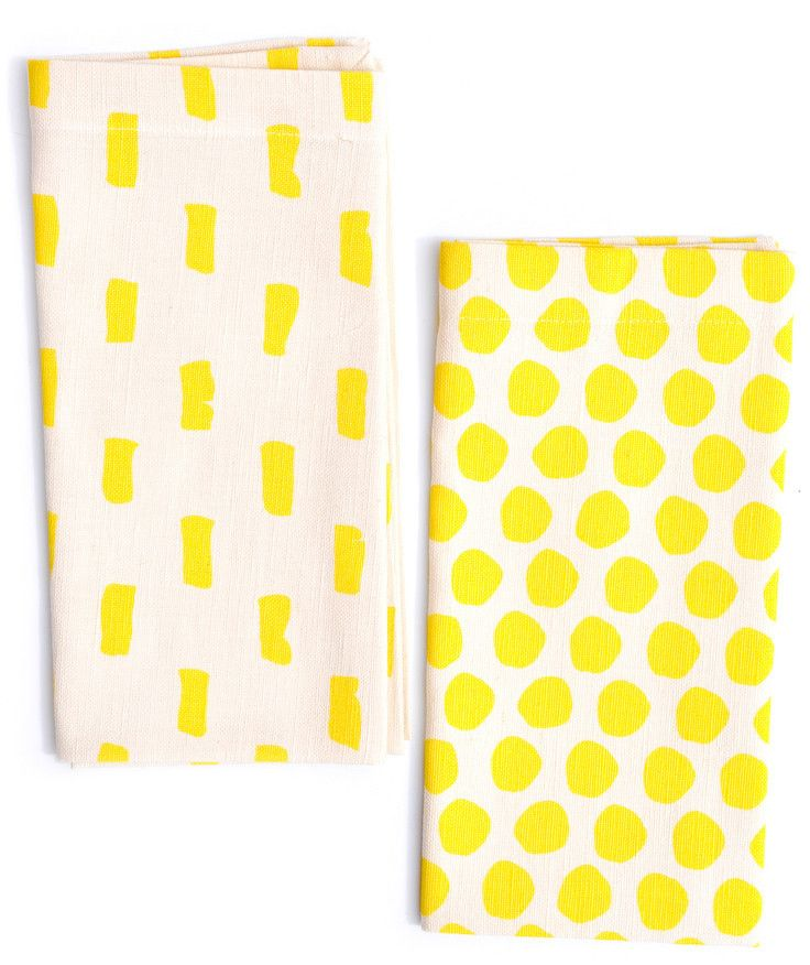 new // mixed print napkin set, $24