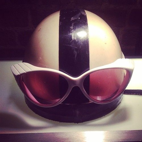 Custom-made  goggles produced and designed by General Eyewear for 2013 Peugeot Wacky Races commercial.