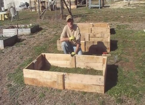 How To Build A Raised Garden Bed From Pallet Wood...http:/