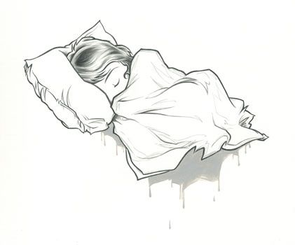 kurt halsey sleepy girl cartoon