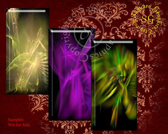 Fractal Abstract Dominos  Digital Collage Sheet by SaguaroGraphics, $4.35