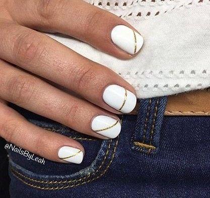 Модный белый маникюр 2016