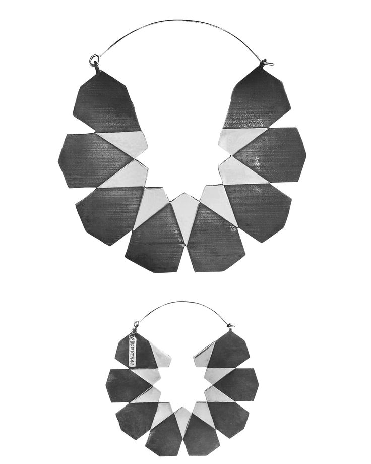 Moroccan Hoops White Brass