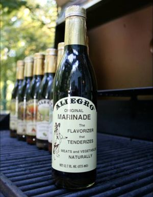 The Original Allegro Marinade was formulated in 1955 by a family who developed the marinade for their restaurant. Soon, customers were requesting the marinade be bottled and sold. The success led to the family focusing solely on Allegro Marinades. The restaurant's unique blend of flavorizing and tenderizing ingredients became commercially available in the consumer marketplace over two decades ago, making it the pioneer liquid marinade in the arena of specialty foods.