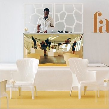 """tate bar unit perfect for DJ. features an aluminum frame with gold plexi inserts    tate bar available in gold, silver, milk,or black plexi.  dimensions:  24"""" D x 72"""" W x 40"""" H"""