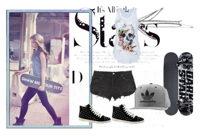 skater girl by slytheriner on Polyvore featuring Alexander McQueen, Ksubi, Steve Madden, adidas, Darkstar, Agostino and Karl Lagerfeld