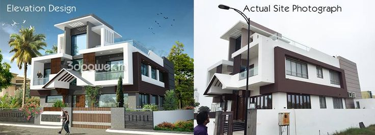 #Perfect 3DRendering #Modern #Elevations #Innovative #Design For more details call : 09372032805 OR visit our website www.3dpower.in
