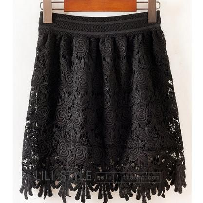 Rose lace skirt - Hichinashopping.com can help you to buy the apparel,shoes,bags,accessories,home decor,electronics items...... on china online shopping website and ship to you!