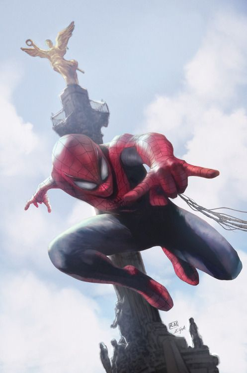 Spidey Leaping Into Action - Edgar Gómez