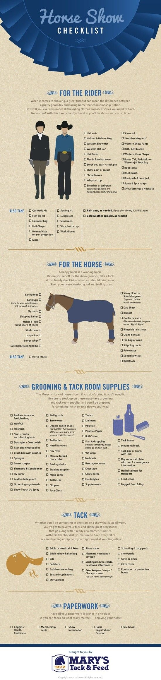 Horse Show checklist - checklist concours équitation