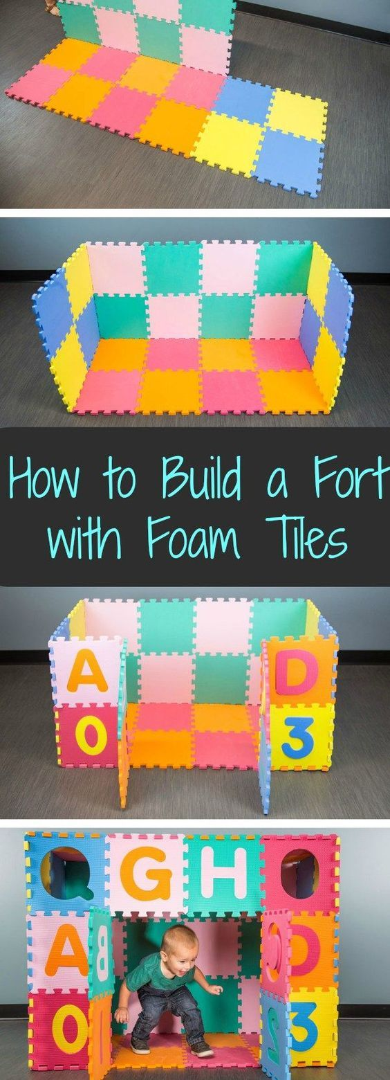 80 best interlock foam floor mats images on pinterest area rugs how to build a fort with foam tiles in 6 easy steps take your foam floor to the next level with this easy activity fun for parents and kiddos alike dailygadgetfo Choice Image