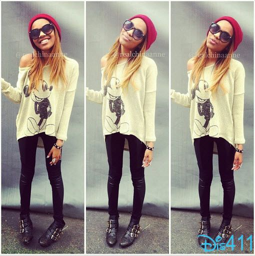 China Anne McClain Rocking A Mickey Mouse Sweater! did i say I love her and her style!
