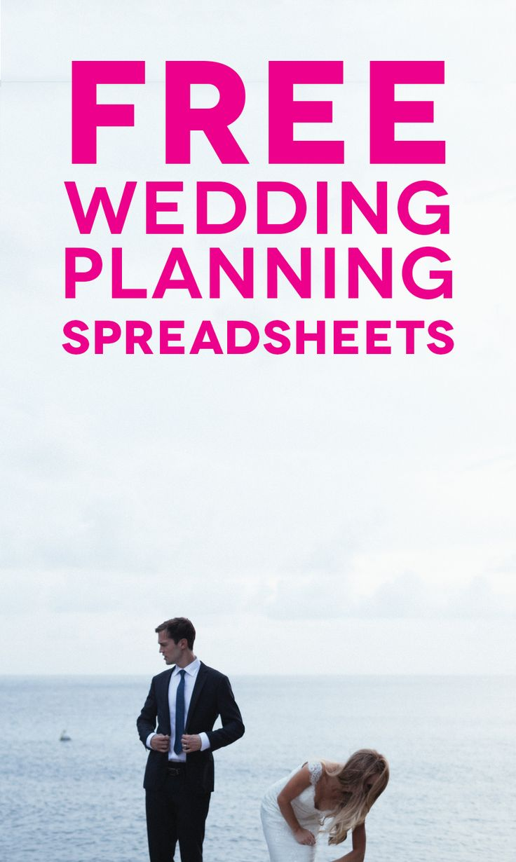 Customizable (And Free) Wedding Spreadsheets | A Practical Wedding: We're Your Wedding Planner. Wedding Ideas for Brides, Bridesmaids, Grooms, and More