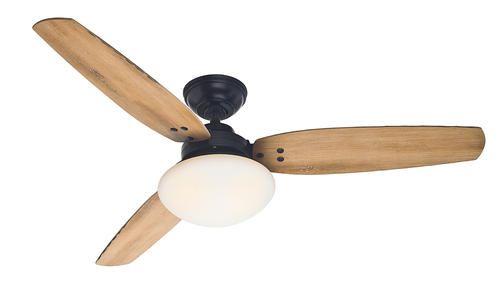 $130 Hunter Raefield 52 in Matte Black Ceiling Fan at