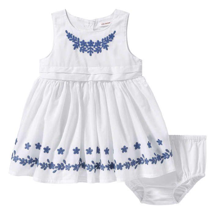 Robe brodée pour bébés filles in Bleu de Joe Fresh
