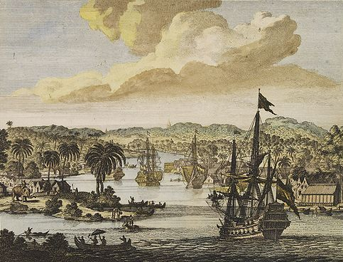 history of the indian spice trade Portuguese trading vessel, carrying a  spice port on the coast of india,.