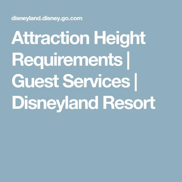 Attraction Height Requirements   Guest Services   Disneyland Resort