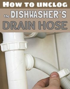 Learn how to unclog the dishwasher's drain hose.