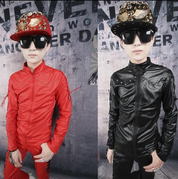 Black white red Motorcycles plus velvet youth mens leather coats and jackets coat men's clothing faux leather jacket men coat