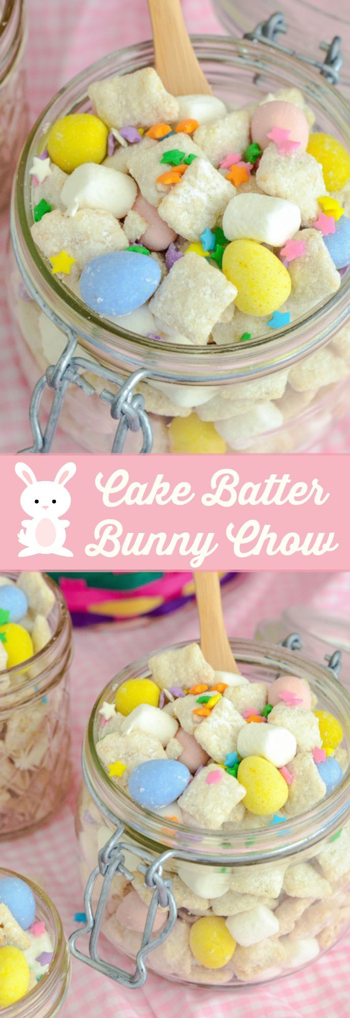 Cake Batter Bunny Chow!