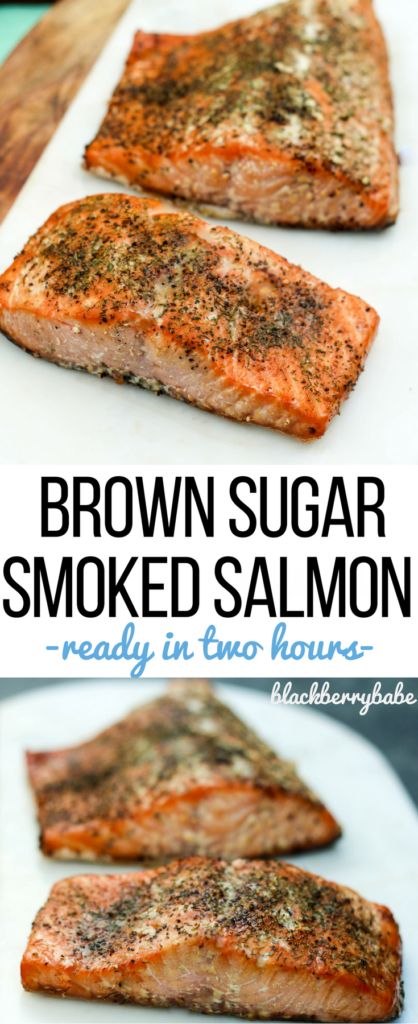 Brown Sugar Smoked Salmon! Ready in less than two hours, much easier than I thought! The brown sugar helps the crust form, but doesn't make it sweet. You taste the simple spice rub that has dill, salt and pepper. #SNPSweepstakes  #HealthyHeartPledge