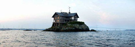 Island Paradise: Spectacular 100 Year Old House on a Rock