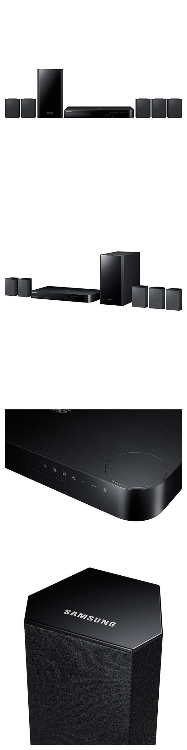 Home Theater Systems: Samsung Htj4100 5.1 Channel 1000-Watt Blu-Ray Home Theater System - Ht-J4100/Za BUY IT NOW ONLY: $213.33