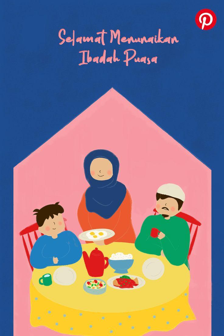 Pinterest Ramadhan Greetings 2020 on Behance | Ilustrasi ...