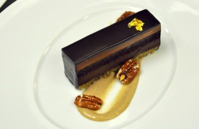 Mayan Chocolate Cake Plated Dessert