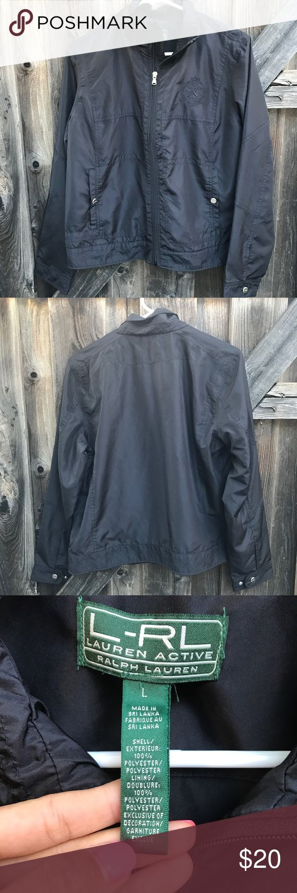 Ralph Lauren men's jacket Ralph Lauren active men's black light weight jacket Size large 100% Polyester  Length 23.2 Armpit to armpit 22 Shoulder to shoulder 16.5 Arm length from shoulder 29 M18 like new no stains or rips or fading m18 Lauren Ralph Lauren Jackets & Coats Lightweight & Shirt Jackets