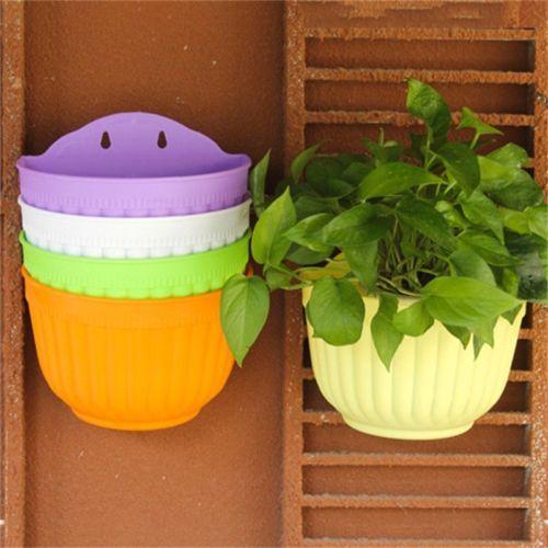 Wall-Hanging-Flower-Pot-Storage-Garden-Basket-Plant-Planter-Pots from ebay