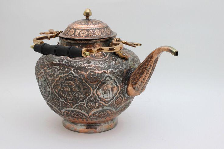 Antique Teapots | Antique Persian Copper Teapot :: Coffee & Tea :: Metalwork :: Beaux ...