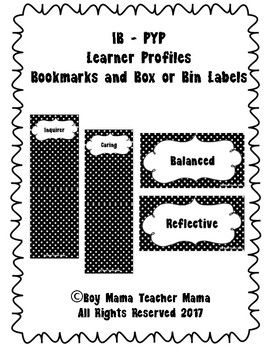 Use these bookmarks and book tents to organize your learner profile book collection. Bookmarks go inside the book covers for easy finding and book tents can be used to label book boxes or bins.