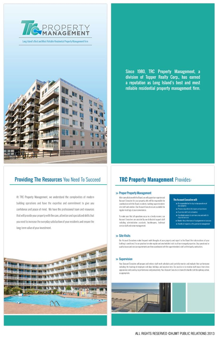 topper realty company property management brochure