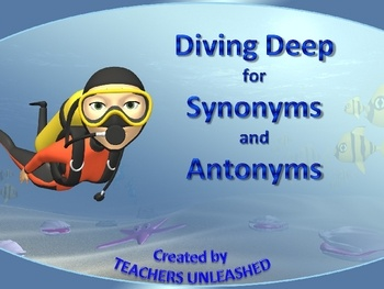 This 21 slide PowerPoint presentation will take your students to the majestic ocean as they explore understanding synonyms and antonyms.