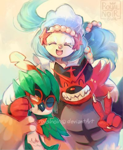 Everyone welcome Decidueye, Incineroar, and Primarina! (official source: www.youtube.com/watch?v=5uWAMw…) I love every one of them! I'm gonna try to get all of them at some point...