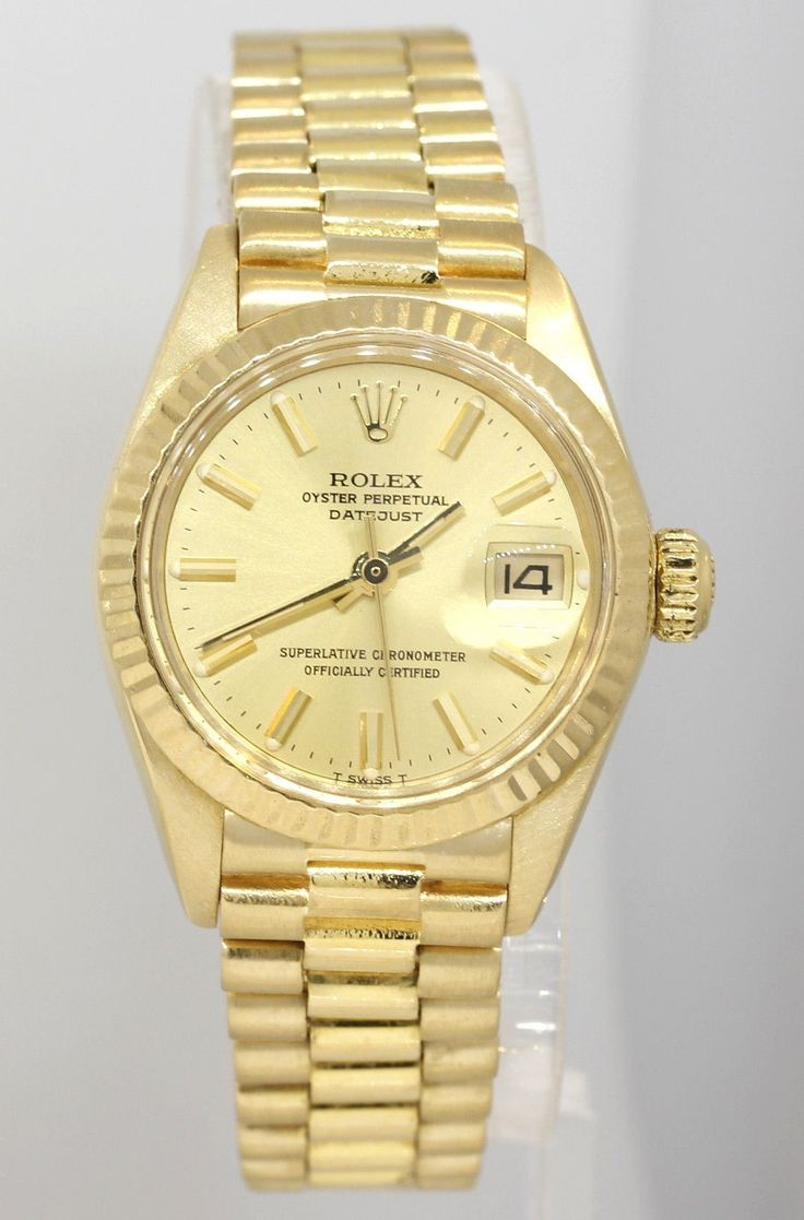 Beautiful Nice GORGEOUS LADIES K YELLOW GOLD ROLEX PRESIDENTIAL WATCH R Check more at