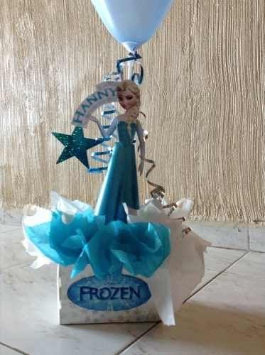 Mesas frozen and originals on pinterest for Centros de mesa de frozen