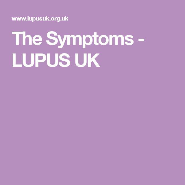 The Symptoms - LUPUS UK