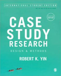 The Fifth Edition of Robert K. Yin's bestselling text offers comprehensive coverage of the design and use of the case study method as a valid research tool. The book offers a clear definition of the case study method as well as discussion of design and analysis techniques.